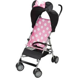 Disney 3D Umbrella Stroller Pink Minnie 3D Secure 3 Point Ha