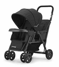 Caboose Too Graphite Stand-On Tandem Stroller, Black New