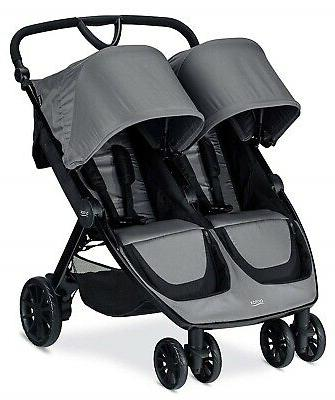 2019 b lively double stroller dove grey