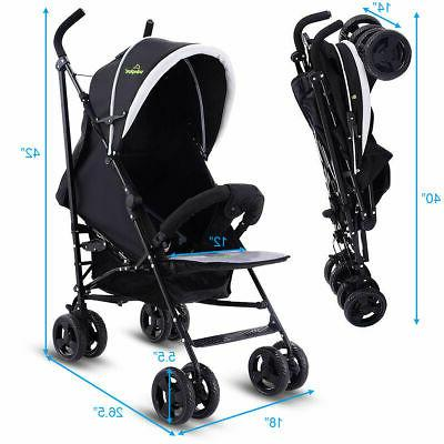 Foldable Baby Buggy Kids Infant Pushchair Lightweight