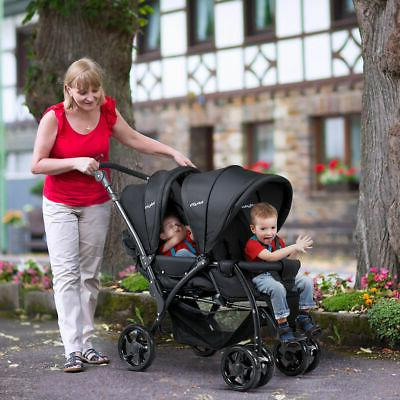 Foldable Baby Double Stroller Infant Pushchair
