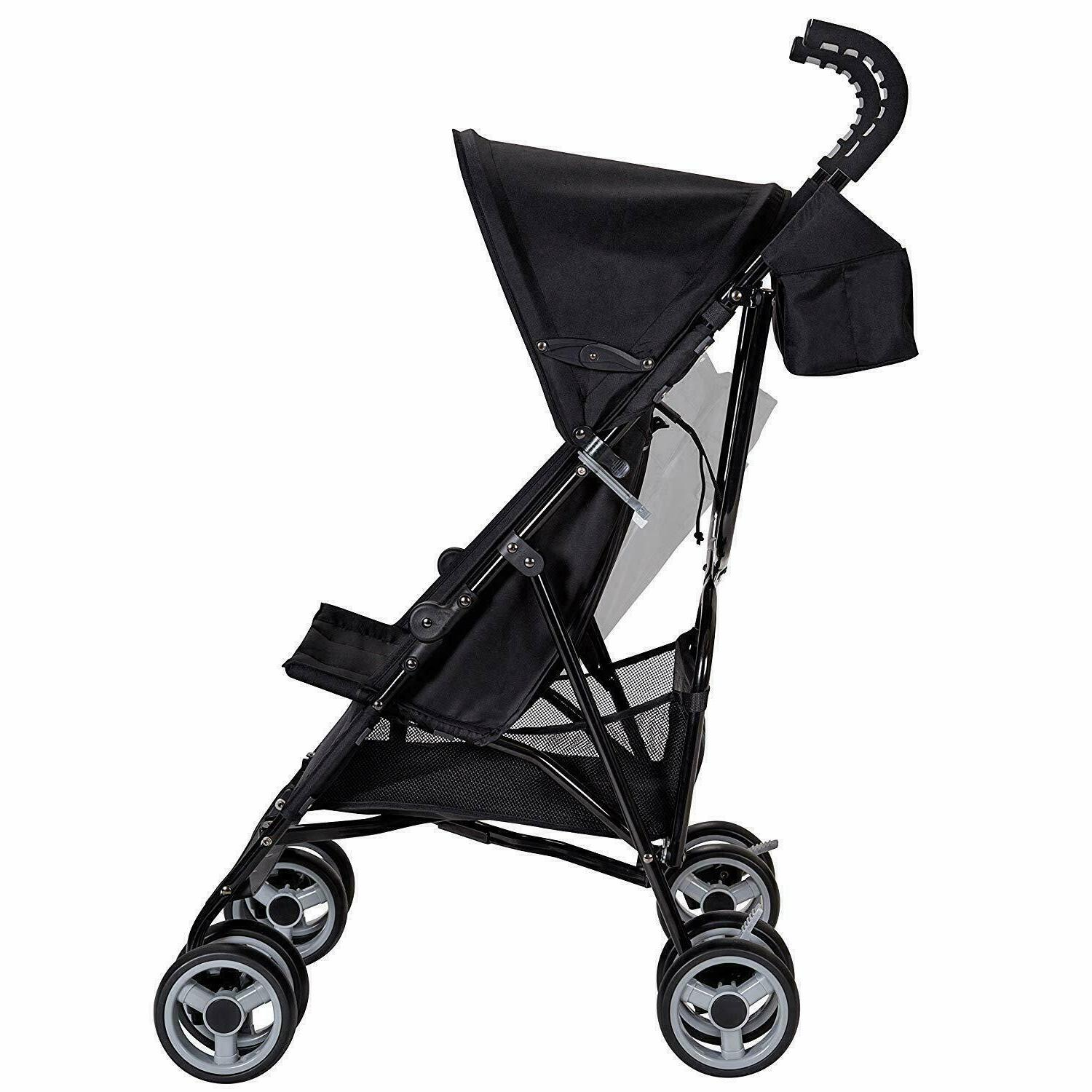 Baby Stroller, Black Compact Buggy