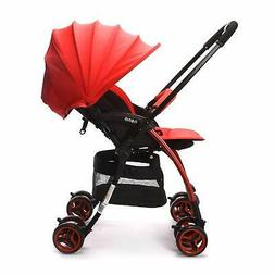 Red Wonder Buggy Lightweight Baby Stroller With Reversible H