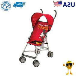 Umbrella Stroller Canopy Disney Red Pram Baby Buggy Light We